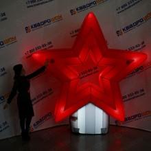 Надувная фигура на 9 мая Звезда с подсветкой