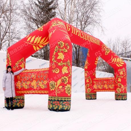 Надувная фигура арки хохлома