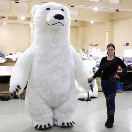 Меховой пневмокостюм белый медведь