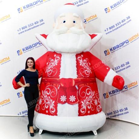 Надувной Дед Мороз расписной