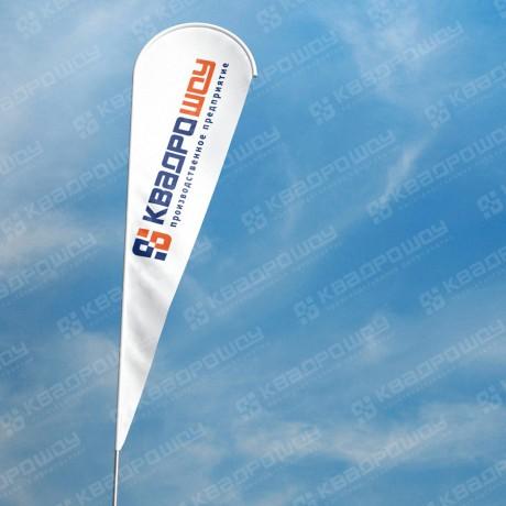 Флаг Виндер Капля с логотипом компании КвадроШоу