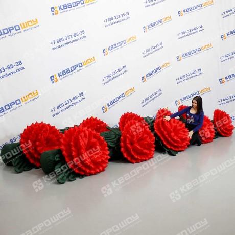 Гирлянда надувная цветы гвоздики