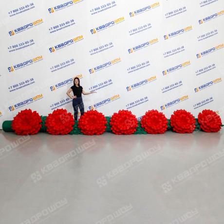 Пневмодекорация цветы Гвоздики