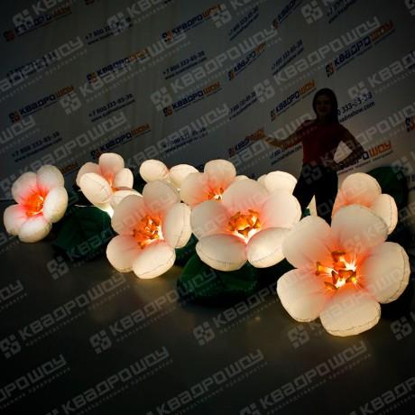 Гирлянда надувная цветы яблони с подсветкой