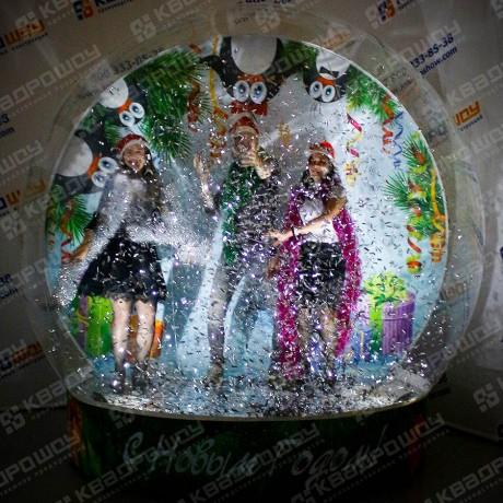 Декорация новогодняя Снежный шар
