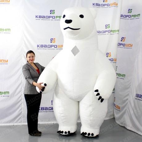 Пневмокостюм белый медведь