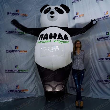 Надувная панда с подсветкой