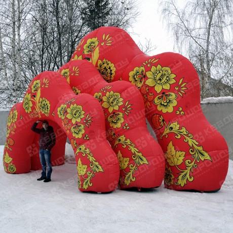 Надувные декорации Арки красная Хохлома