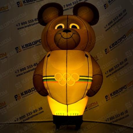 Надувной Олимпийский Мишка с подсветкой