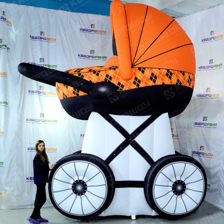 Пятиметровая надувная коляска