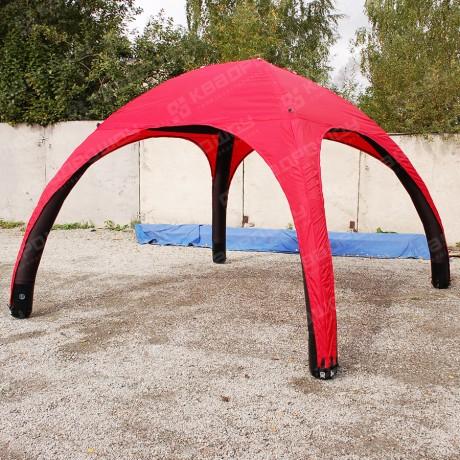 Надувная палатка красная