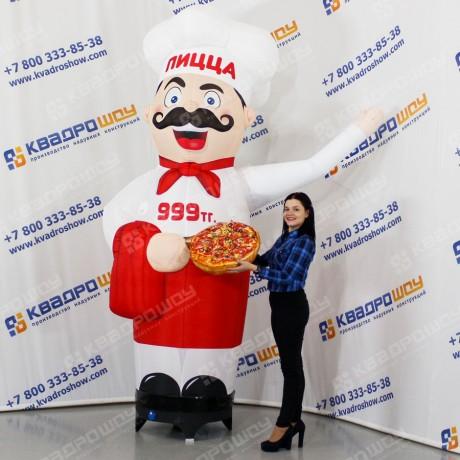 Надувной повар для рекламы пиццерии