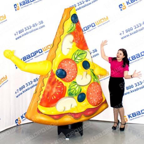 надувной рекламный кусочек пиццы с машущими руками