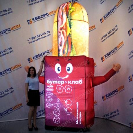 Рекламная фигура бутерброд