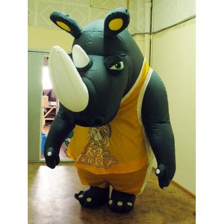 Надувной костюм носорога