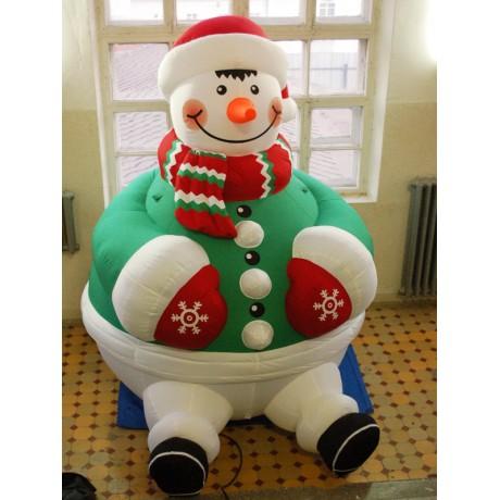 Надувная конструкция снеговика