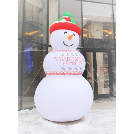 Надувная фигура снеговика
