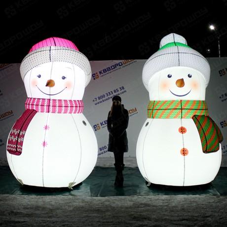 Светящиеся снеговики для оформления