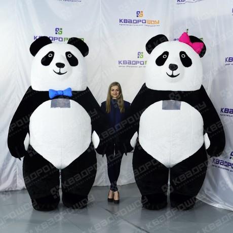 Надувные панды для панда шоу