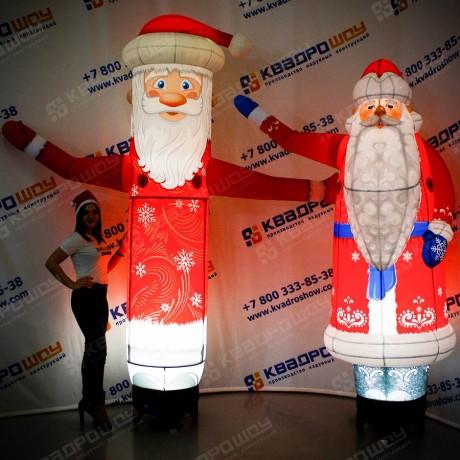 Дед Мороз надувной рекламный зазывала
