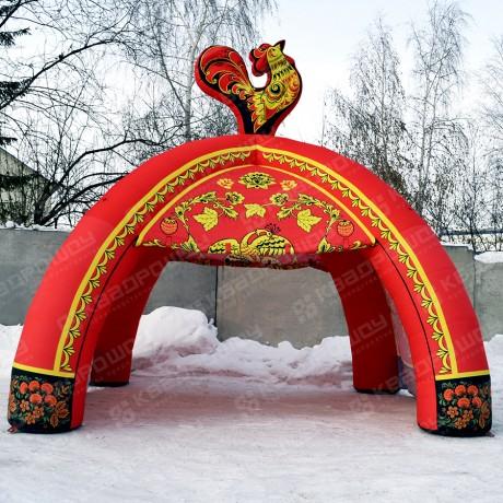 Палатка четырехопорная хохлома