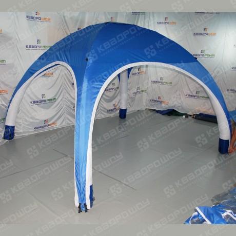 Надувная фигура палатки синей