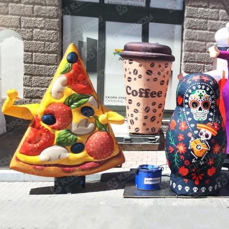 Надувная пицца зазывала на gastreet 2019