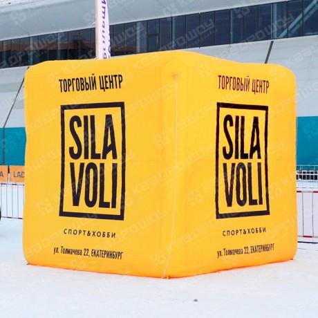 Подвесной рекламный куб