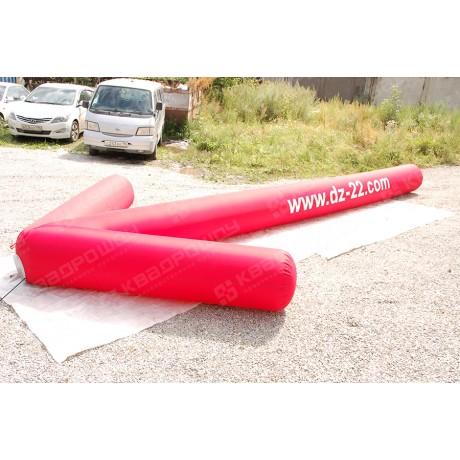 Надувная фигура красного указателя