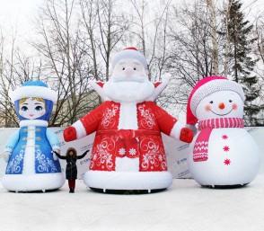 Надувные декорации на Новый Год