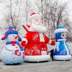 Новогодний надувной декор для улицы