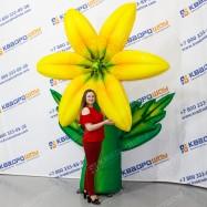 Надувной огромный цветок для праздника