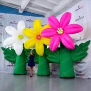 Мобильные декорации надувной цветок