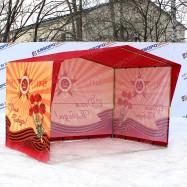Палатка каркасная торговая для празднования Дня Победы