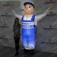 Реклама салона сантехники надувная фигура с подсветкой