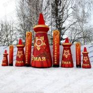 Принтованные надувные декорации для организации празднования Дня Победы