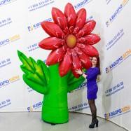 Праздничная атрибутика надувные декорации цветок