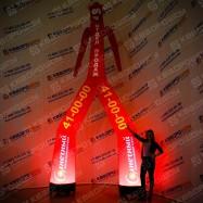 Надувной воздушный танцор Аэромен с подсветкой