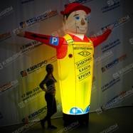 Надувной Автомастер с машущей рукой серии ПРЕМИУМ