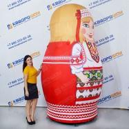 Матрешка надувная в белорусском платье