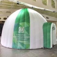 большая надувная палатка в стиле иглу