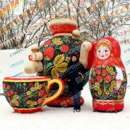 большие надувные декорации на ярмарку в русском стиле хохлома