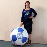 Большой футбольный мяч с логотипом для игр со зрителями