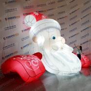 Надувная установка на крышу Дед Мороз