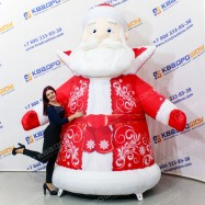 Надувной Дед Мороз на елку