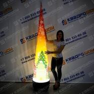Конус новогодний надувной с подсветкой