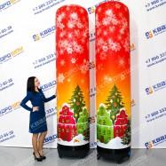 Фигуры надувные для украшения новогодние колонны