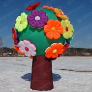 Пневмодекорация дерево