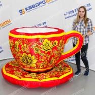 Надувные декорации Чашка и Блюдце в стиле Хохлома