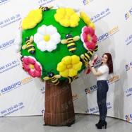 Надувное цветущее дерево с пчелками